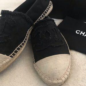 Authentic Chanel Espadrille Flats.